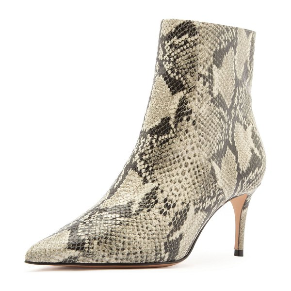 Schutz Bette Snake-Print Ankle Boots in natural