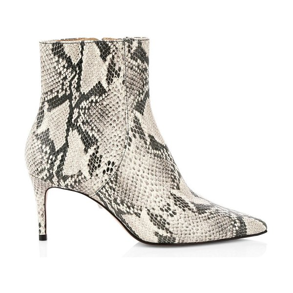 Schutz bette snakeskin-embossed leather ankle boots in natural
