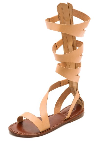 Schutz Bilquis flat gladiator sandals in tanino - A simple design lends timeless appeal to leather Schutz...