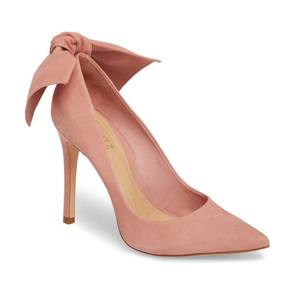 SCHUTZ blasiana bow pump - A floppy, knotted bow crowns the soaring stiletto heel...