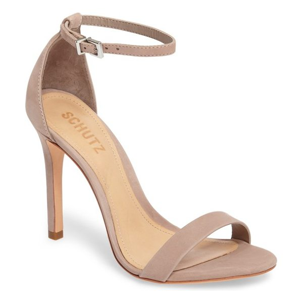 Schutz 'cadey lee' sandal in neutral - An elegant high-heel sandal features simple styling and...