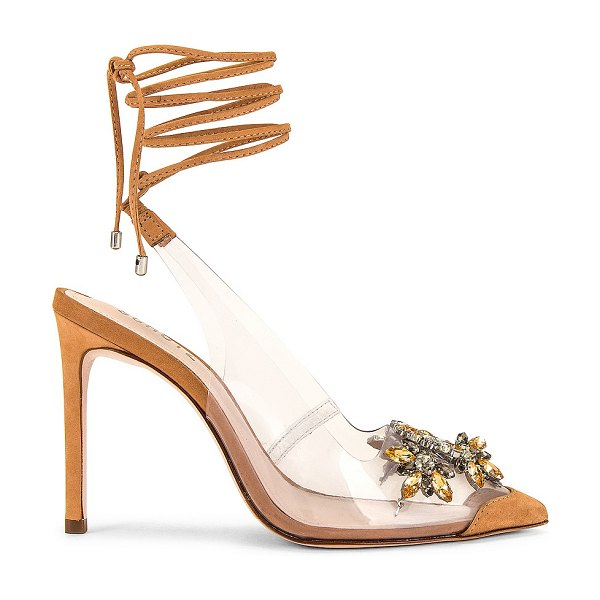 Schutz carline heel in honey beige