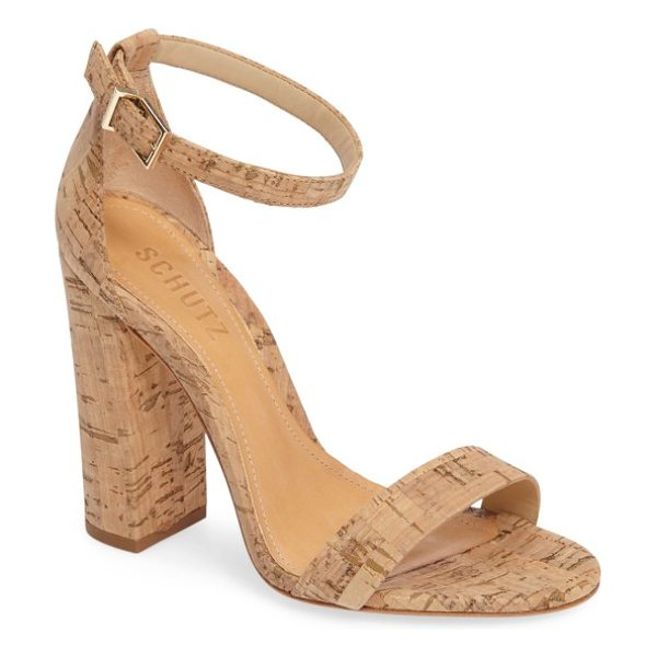Schutz enida sandal in natural leather