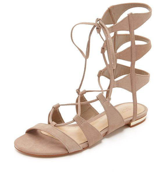 Schutz Erlina gladiator sandals in neutral - Smooth nubuck Schutz gladiator sandals updated with...