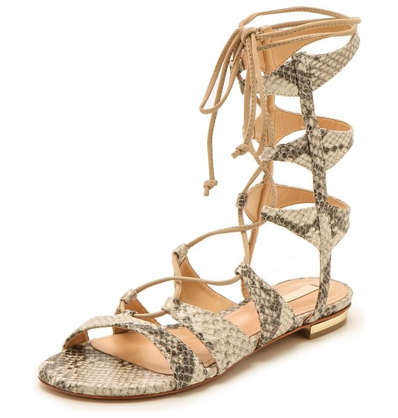 Schutz Erlina lace up sandals in natural
