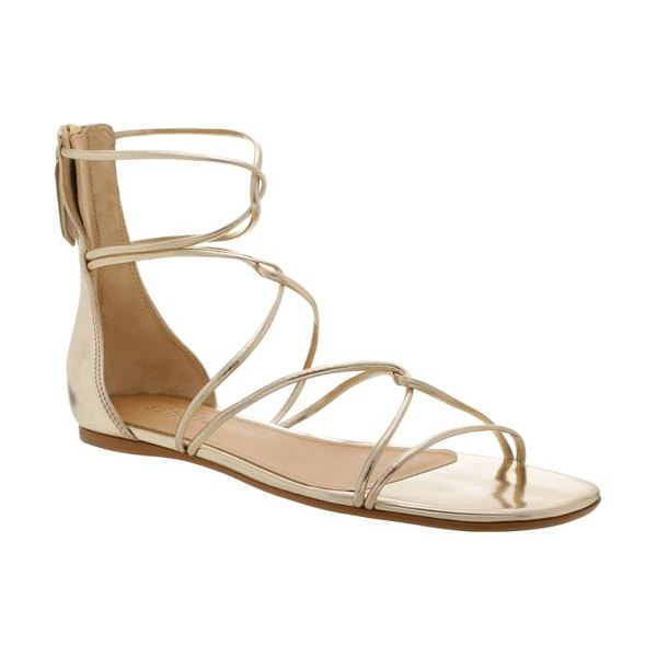Schutz fabia gladiator sandal in metallic