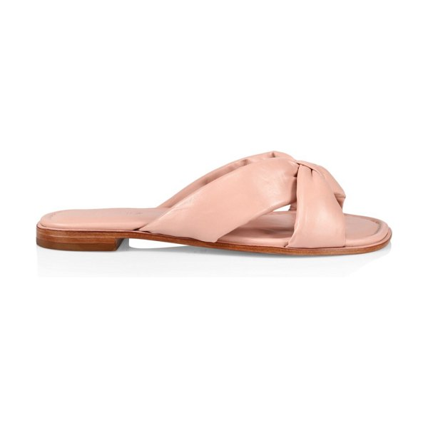Schutz fairy padded leather sandals in neutral