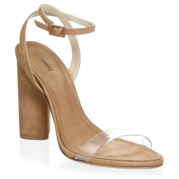 Schutz geisy sandals in toasted nut - Elevate your style with these sophisticated sandals...