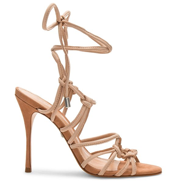 "Schutz Gleyce Heel in tan - ""Leather upper and sole. Wrap ankle with tie closure...."