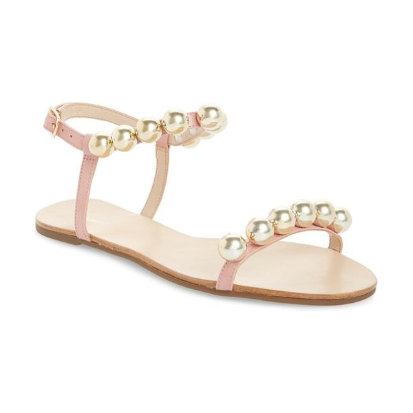 Schutz hebe ankle strap sandal in pink - Polished bead hardware adds eye-catching edge to a...