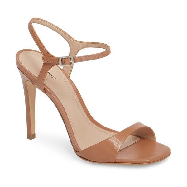 Schutz jade ankle strap sandal in beige - A slim ankle strap provides a graceful finishing touch...
