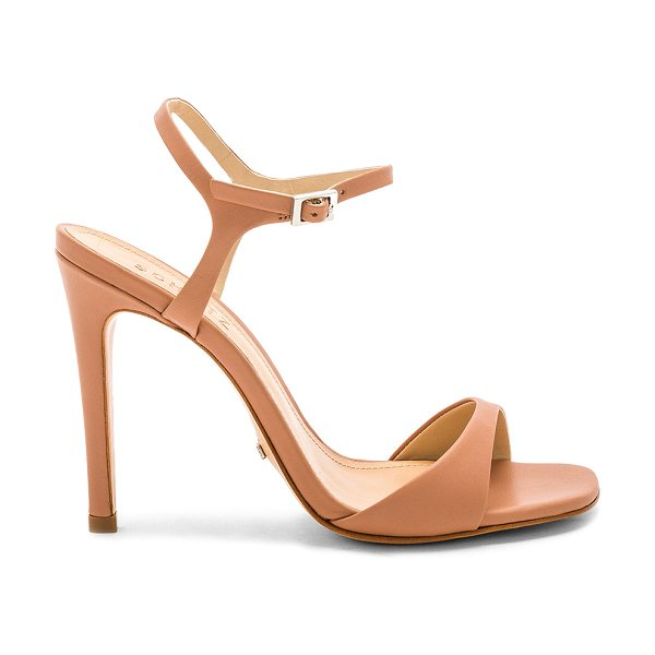 "Schutz Jade Heel in tan - ""Leather upper and sole. Ankle strap with buckle..."