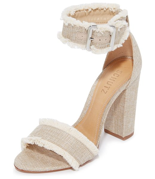 Schutz janessa fray sandals in bamboo