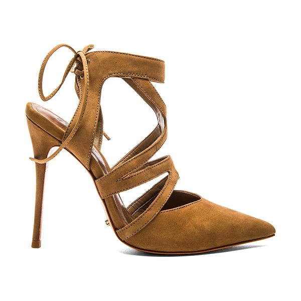 "Schutz Kelins heel in brown - Suede upper with leather sole. Heel measures approx 5""""..."