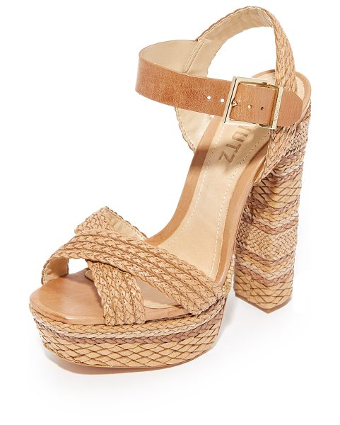 Schutz lorah platform sandals in desert - Woven designs and subtle shading lend rich texture to...
