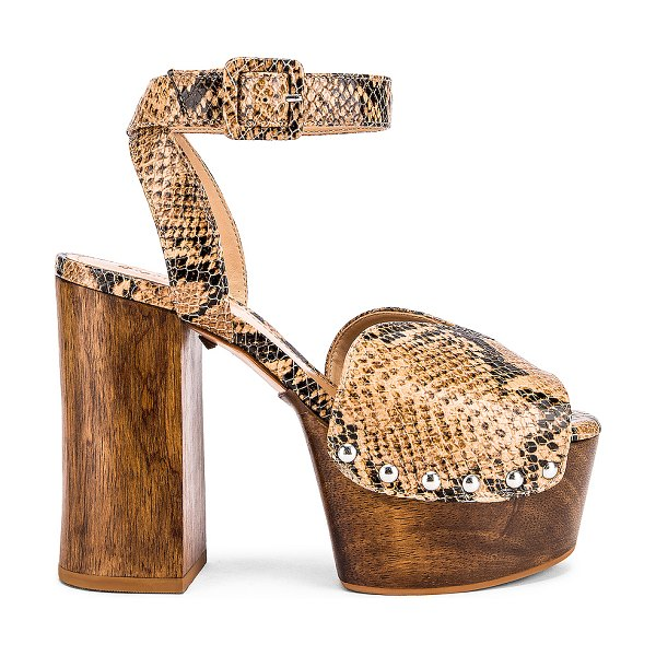 Schutz lubiana platform in honey beige snake