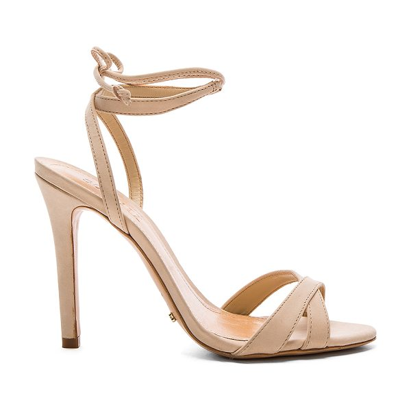 SCHUTZ Lucie Heel - Leather upper and sole. Wrap ankle with tie closure....