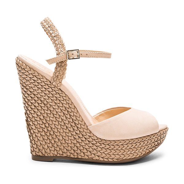 Schutz Mable wedge in beige - Leather upper with man made sole. Ankle strap with...