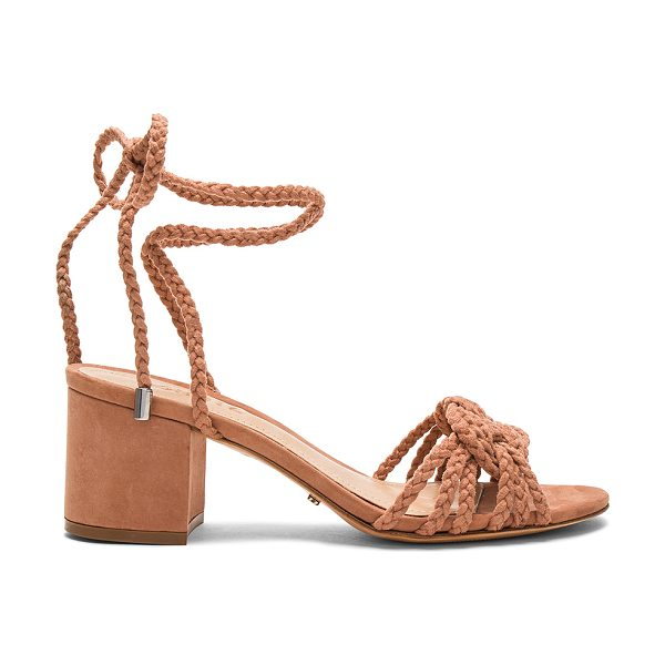 """Schutz Marlie Sandal in rose - """"Braided textile upper with leather sole. Wrap ankle..."""