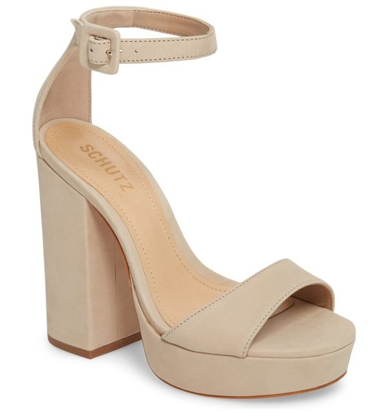 Schutz mikella sandal in oyster leather