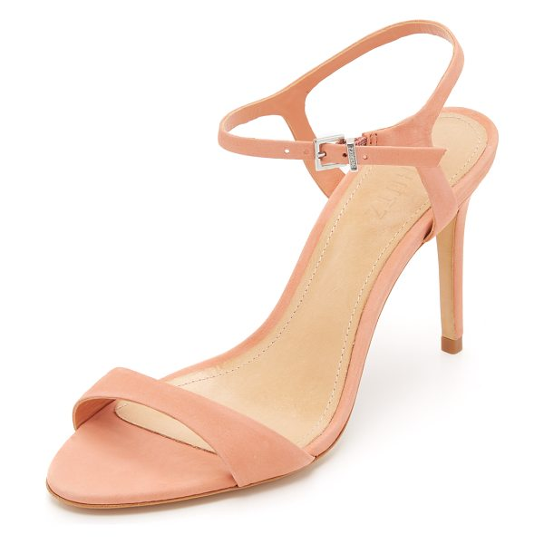 Schutz Schutz Milady Sandals in clay - Refined Schutz sandals cut from luxe nubuck. Slim ankle...
