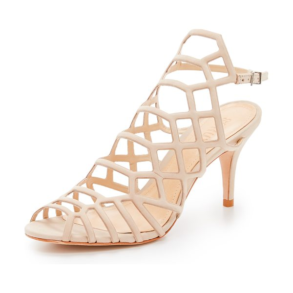 SCHUTZ Morely sandals - Delicate straps form a cage silhouette on these suede...