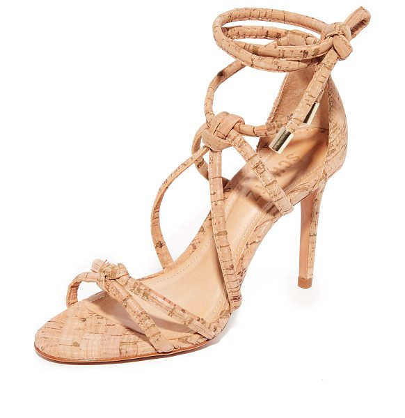 Schutz nadira sandals in natural - Knotted straps create a caged effect on these cork...