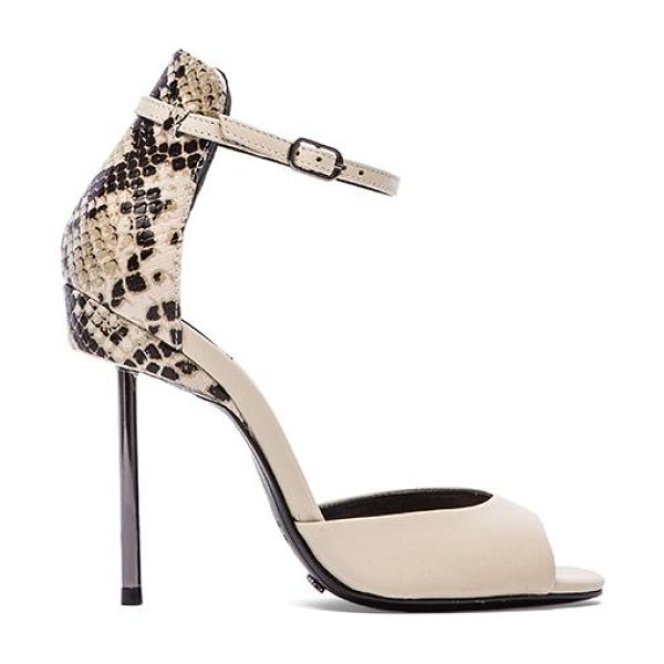 Schutz Nandi heel in cream - Leather upper with leather sole. Heel measures approx...