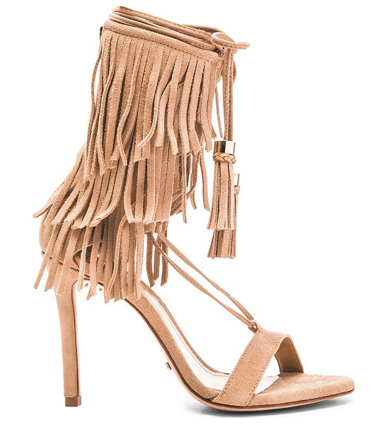 "Schutz SU2C x REVOLVE Kija Heel in beige - Suede upper with leather sole. Heel measures approx 4""""..."