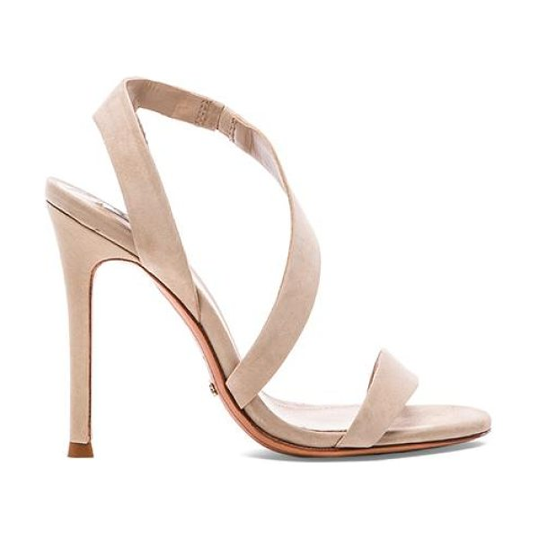"Schutz Tabacema heel in taupe - Leather upper and sole. Heel measures approx 4.5"""" H...."