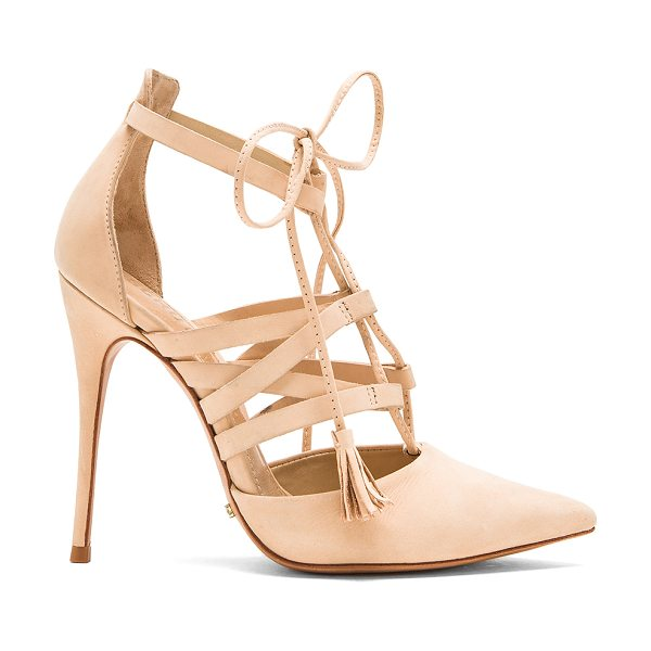 Schutz Zora heel in beige - Suede upper with leather sole. Heel measures approx...
