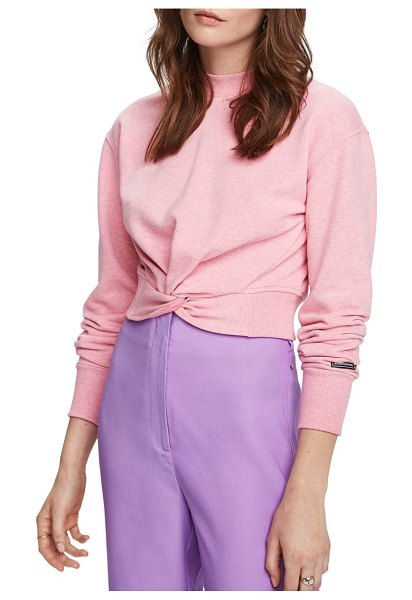 Scotch & Soda knot front sweatshirt in pink