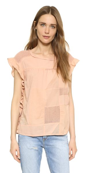Scotch & Soda/Maison Scotch delicate patchwork blouse in natural - A boxy Scotch & Soda/Maison Scotch blouse in tonal...