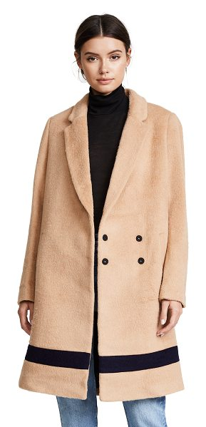Scotch & Soda/Maison Scotch tailored wool jacket in camel - A contrast stripe at the hem lends a unique finish to...