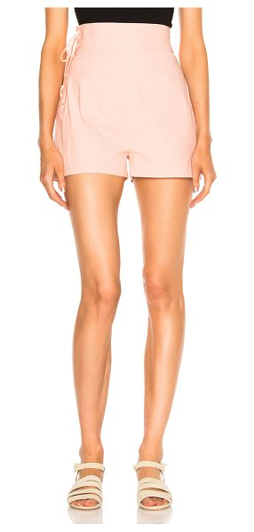 SEA Lace Up Camper Short in pink - Self: 100% cottonLining: 100% poly. Made in USA. Dry...
