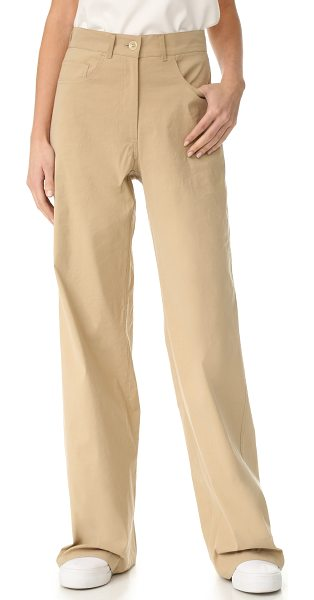 SEA sailor pants in khaki - Crisp Sea pants in a high-waisted, wide-leg profile....