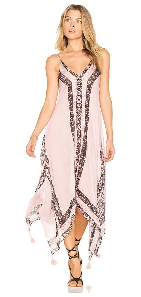 Seafolly Border Print Dress in pink - 100% modal. Hand wash cold. Unlined. Adjustable shoulder...