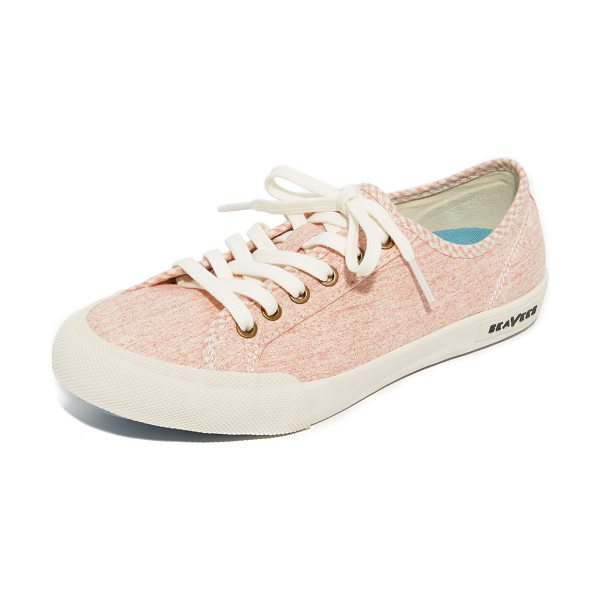 SeaVees monterey beach club sneakers in pale pink - Canvas SeaVees sneakers styled with checkered piping at...