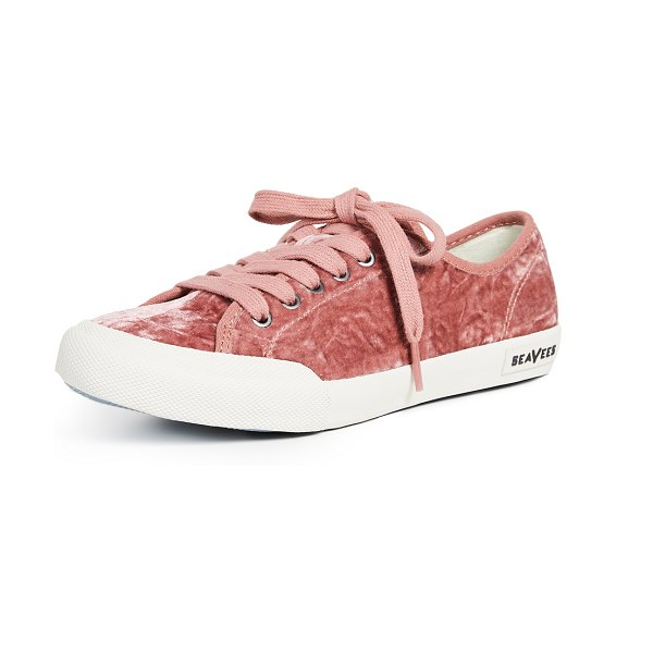 SeaVees monterey sneakers in heather rose - Fabric: Velvet Low tops Flat profile Lace-up at top...