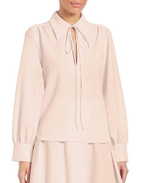 SEE BY CHLOE crepe collared blouse - Stylish blouse fashioned with stylish pleats. Spread...