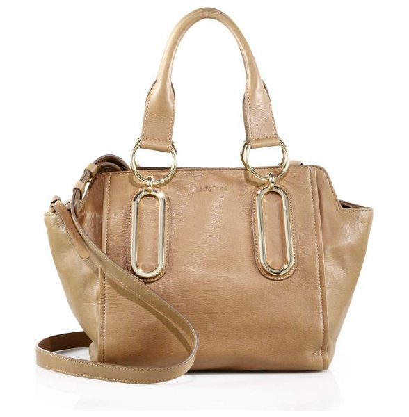 See By Chloe Paige leather satchel in nut - A softly structured silhouette cast in smooth, supple...