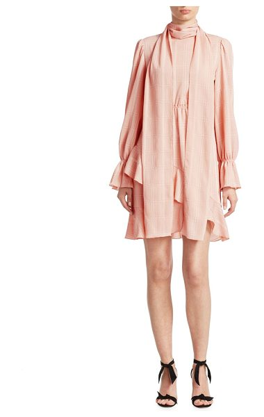 See By Chloe asymmetrical ruffle dress in smokypink - Gentle ruffles accentuate this romantic mini dress....