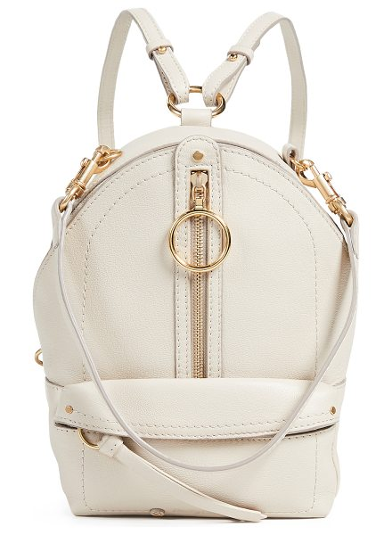 See By Chloe backpack in cement beige - Leather: Cowhide Gold-tone hardware Exposed zip at top...