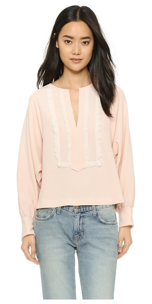 SEE BY CHLOE Blouse with embroidery - Contrast lace trim brings delicate detail to this loose...