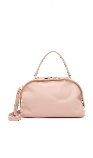 See By Chloe Bluebell satchel in nude - A slouchy See by Chloé satchel in pebbled leather. Slim...