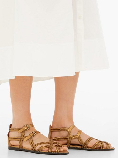 See By Chloe braided leather sandals in bronze