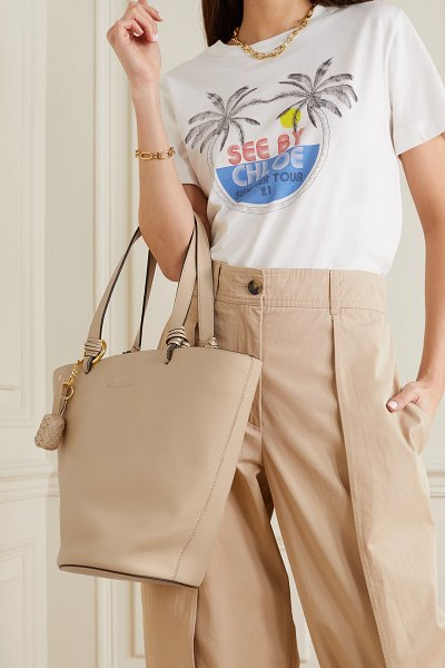 See By Chloe cecilia textured-leather bucket bag in cream