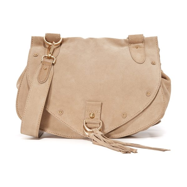 See By Chloe Collins saddle bag in sandshell - A slouchy See by Chloé saddle bag made from soft nubuck....