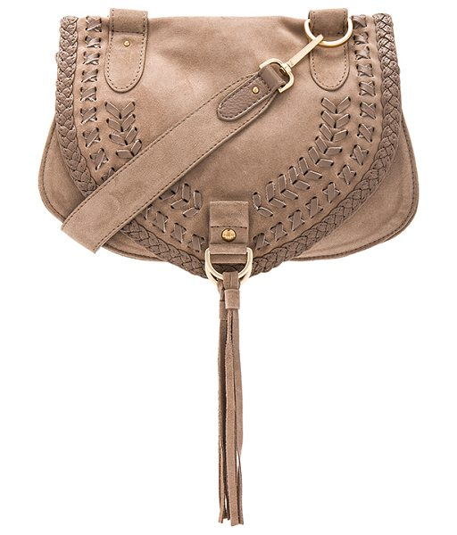 SEE BY CHLOE Crossbody Bag in taupe - Suede and leather exterior with canvas lining. Flap top...