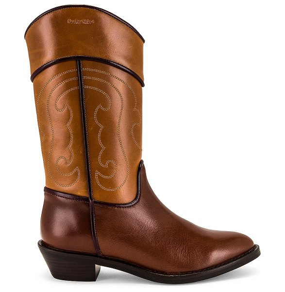 See By Chloe dany boot in rust & copper